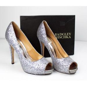 Badgley Mischka Humbie II Glitter Sparkle Platform